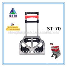 Aluminio plegable de la carretilla con dos ruedas