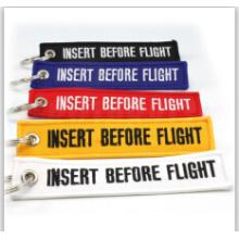Porte-clés populaire de polyester de broderie de logo de haute qualité