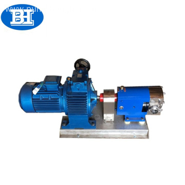 Food grade thick liquid transfer rotary lobe pump