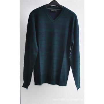 Patrón de cuello en V suéter jersey de punto para los hombres