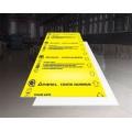 Plaque en tôle d'aluminium jaune brillant 1.6mm