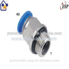 fabricante Ningbo de alta calidad macho recto PC8-02 o PC8-G02 conectores neumaticos