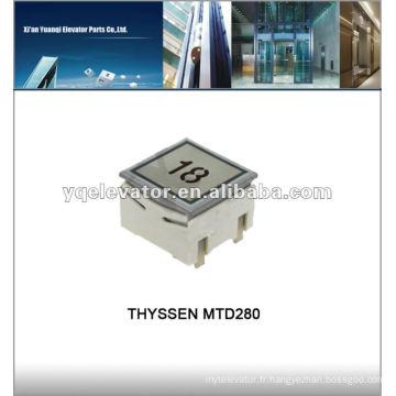 THYSSEN bouton poussoir élévateur MTD280 bouton élévateur Thyssen