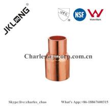 Acoplamiento reductor de cobre montaje de tubería F x C