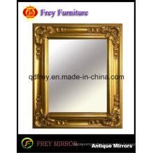 Ornate Wooden Wall Mirror Frame Finished Shiny Golden