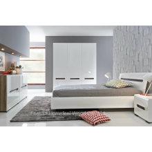 Ensemble de chambre à lustre blanc brillant et design neuf (HF-EY066)