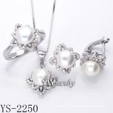 Joyería de moda perla set 925 plata para la fiesta (ys-2250)