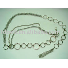 Rhinestone fashion chain belt Fashion belt chain