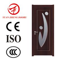 Einzelner Holztür-Entwurfs-Glas-hölzerne Tür-PVC-Tür