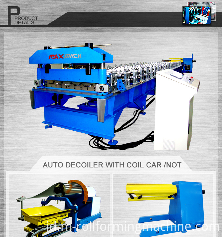 Trapezoidal sheet roofing rolling forming machine