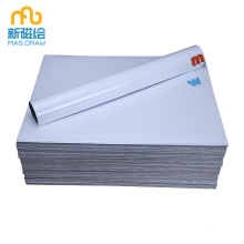 Placa de escrita branca plana seca pequena apagar