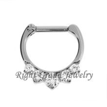 CZ-Prong Set Nase Piercing Septum Schmuck Septum Ring