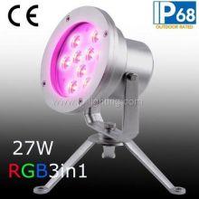 IP68 27W Триколор RGB светодиодный подводный свет пятна, 27 Вт RGB светодиодный фонтан лампы