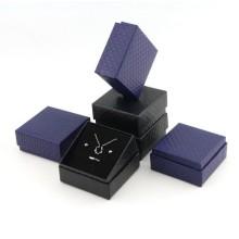 Square black jewelry box with black foam