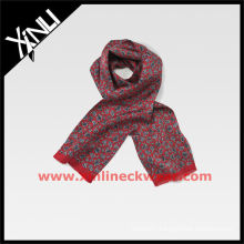 2013 AW 100% Silk Woven Scarf Red Paisley