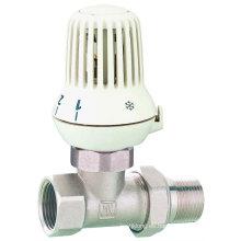 J3004 Válvula de radiador / válvula de radiador recta de latón con niquelado