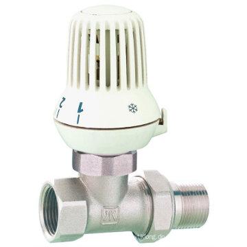 J3004 Kühlerventil / Messing Straight Radiator Ventil mit vernickelt