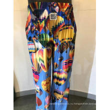 Мужские длинные пижамные брюки с принтом