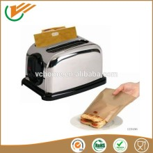 Black and beige high Temperature resistance Non-sticky PTFE Coated reusable eco-friendly sandwish toast bag