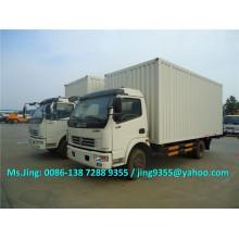 2016 Nuevo DFAC 6-7 ton camión furgón, furgoneta camión caja de carga con venta de pedal trasero hidráulica en Sudán