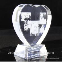 Personalized 3D Laser Engraved K9 Clear Crystal Heart Awards Best Crystal Birthday, Wedding Gifts Souvenirs