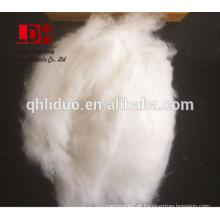 Branco X Comprimento de fibra de caxemira branco desgraseado 20 / 22mm com 15.5micron
