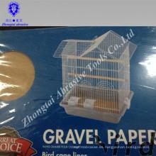 fácil de limpiar e higiénicamente 43 * 28cm papel de grava de aves amigables con el ambiente