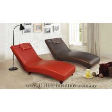 Chaise relaxante à dossier réglable, chaise longue avec repose-pieds