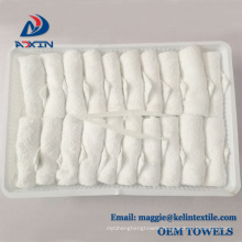 Cheap wholesale white color disposable cotton hot and cool airline hand towel Cheap wholesale white color disposable cotton hot and cool airline hand towel
