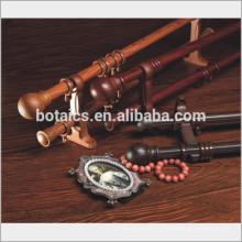28 mm de diámetro de madera de lujo como doble aleación de aluminio de la barra de cortina