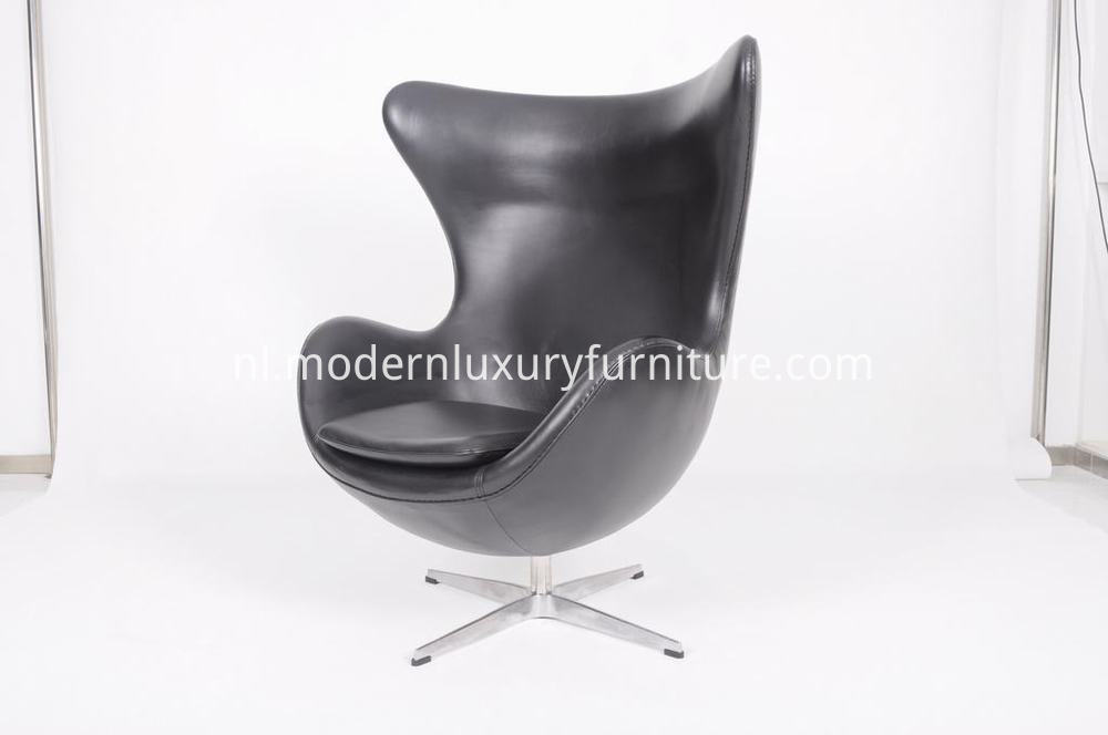 leather egg chair in black 2