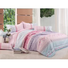 100% Polyester Pigment Printed Brushed Microfiber Fabric for Bedsheet