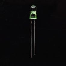 5 мм через-отверстие СИД зеленого цвета с зелеными прозрачные линзы