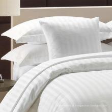 Algodão / Polycotton 1 cm / 2 cm / 3 cm Sateen Stripe Bedding Define Folha de Cama