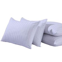 Bomull Sateen Stripe Zippered Pillowcase Slips