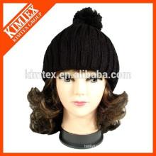 Winter Warm Men Womens Big POM POM Crochet knit caps