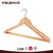 Fancy flat bamboo shirt hangers