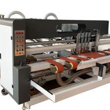 Automatic corrugated cardboard box stitching& gluing machine