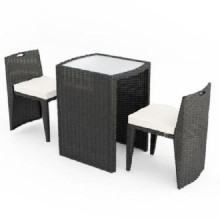 Brown Garden Rattan Patio Furniture with 2 Seats