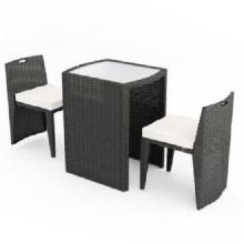 Mobília do pátio do jardim do jardim de Brown com 2 assentos