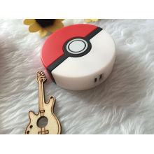 Produtos quentes 2016 desenhos animados 8000mAh 3D Pokeball Pokemon Go Power Banco