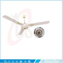 56''celling ventilador solar DC ventilador 5 velocidades remoto Coutrol sala de estar ventilador