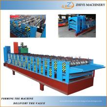Equipos de construcción Doble capa de acero de color Tipo de azulejos de hierro corrugado Hoja de fabricación de la máquina