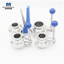 SMS DIN 3A ISO санитарно из нержавеющей стали пневматический дроссельный клапан цена, дроссельный клапан