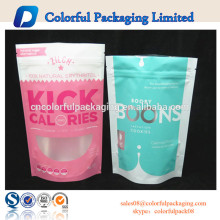 Chocolate & doces e embalagem doce saco / stand up zipper bolsa com janela / plástico laminado stand ziplock saco para embalagens de alimentos