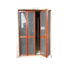 Puerta plegable de aluminio de diseño de lujo de buen precio con malla de alambre