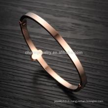 2015 Le nouveau 18K rose or lucky trèfle femme noire pleine de bijoux en diamant bijoux en bracelet GH736 créatif