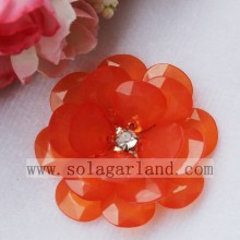 Acrylic Plastic Translucence Jelly Color French Beaded Flower