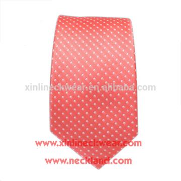 Lazos de seda de la etiqueta privada de los hombres de encargo hechos a mano