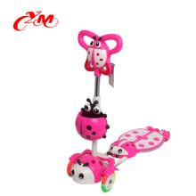 CER genehmigter sicherer Druck 3 Radkind angetriebener Roller / bester verkaufender Kindermotorradroller mit Sitz / Höhe Qualitätskickfußroller
